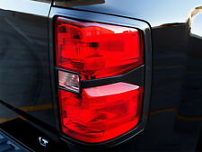 RazerAuto 2015-16 Chevy Silverado 2500 3500 Gloss Black Taillight Cover Trim Set
