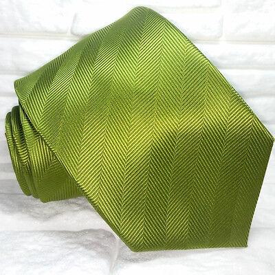 Gentile Cravatta Verde 100% Seta Made In Italy Business Evento Informale Per Soddisfare La Convenienza Delle Persone