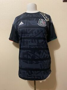 2019-adidas-Mexico-Home-Authentic-Jersey-DP0214-Sz-M-4-BNwT-Black-Player-Issue