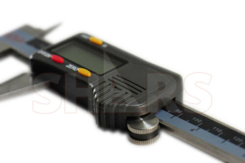 """SHARS 6/"""" 150mm DIN862 Electronic Digital Caliper Stainless Carbide Jaw .0005"""""""