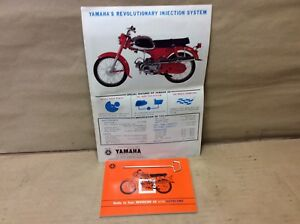 NOS-Vintage-Original-Yamaha-60-YJ2-Riverside-Brochure-And-Owners-Manual