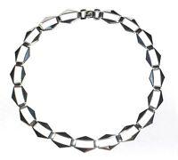 Echtes Silber 925 Halskette Collier - Rhodiniert Mit 5µ Rhodium - Exclusiv