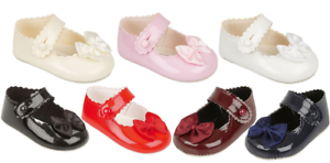 Baypods baby girls pram shoes christening party Early Days 0-3 months BLACK