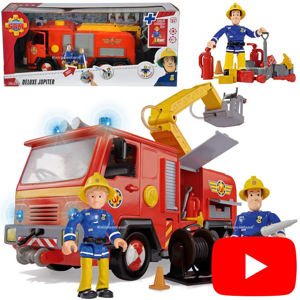 Feuerwehrmann Sam Jupiter incl. 2 Figuren Deluxe Feuerwehr Kinder Fahrzeug Simba