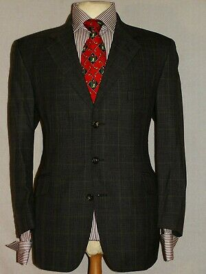 Men S Austin Reed Check Made In England Designer Suit Jacket Uk42s Ebay