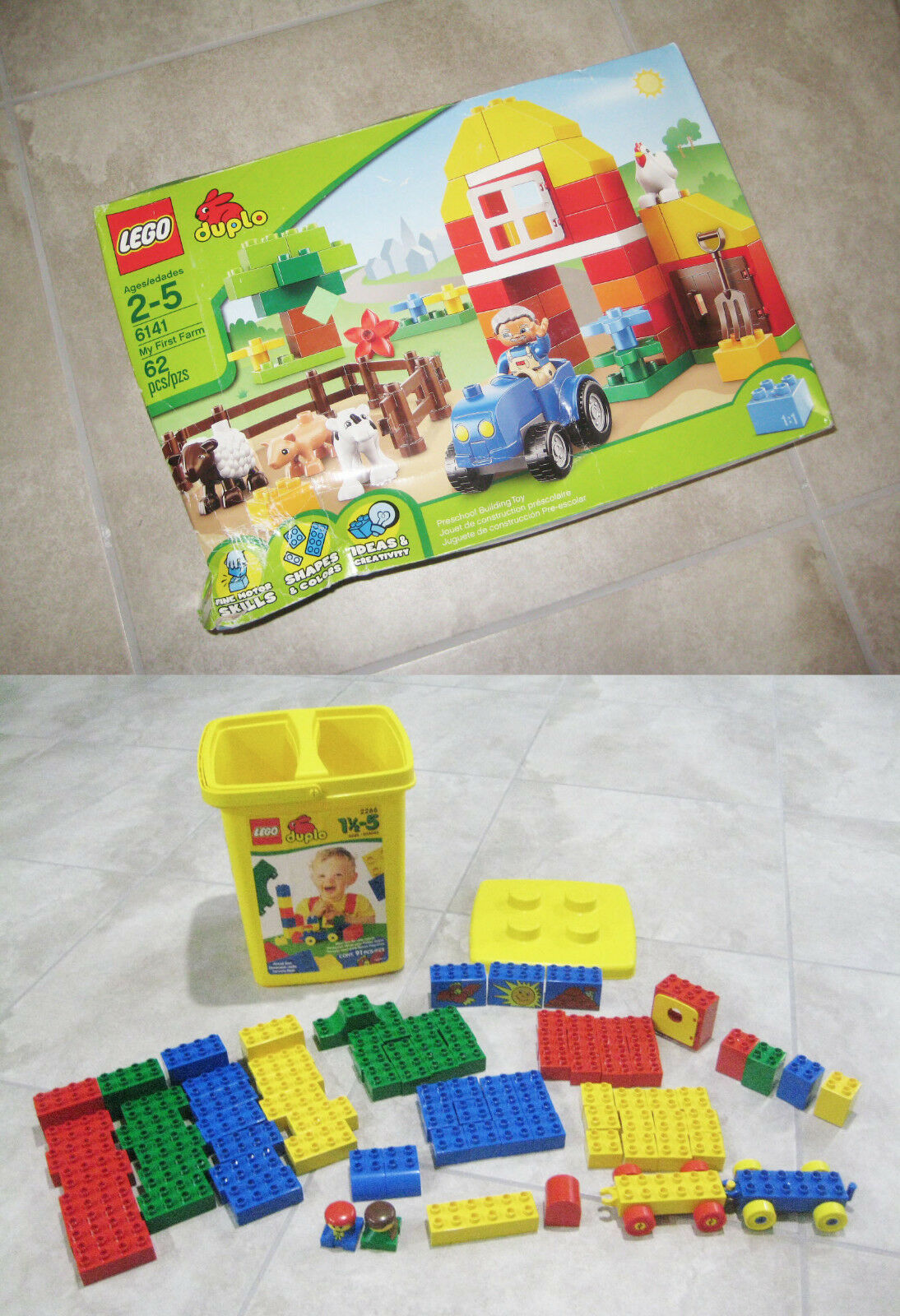 LEGO 6141 Duplo My First Farm (NEW) + 2266 (Loose); 186 total; Lot