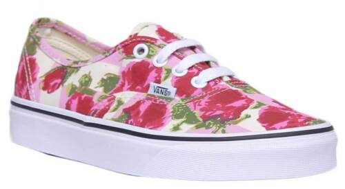Women Romantic 3 Uk Floral Trainers Authentic True Size Vans Multi Flower White Canvas RtqH5Px
