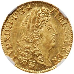Louis-XIV-Louis-d-039-or-a-l-039-ecu-1691-N-Montpellier-NGC-MS64-FDC-etat-exceptionnel