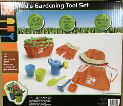 10 Piece Huge Kids Gardening Tool Toys Set Outdoor Play Boys Girls