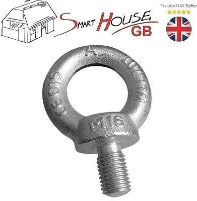 M6 M8 M10 M12 M16 M20 Galvanised Eye Bolt for Rope Lifting Metric Thread Zinc