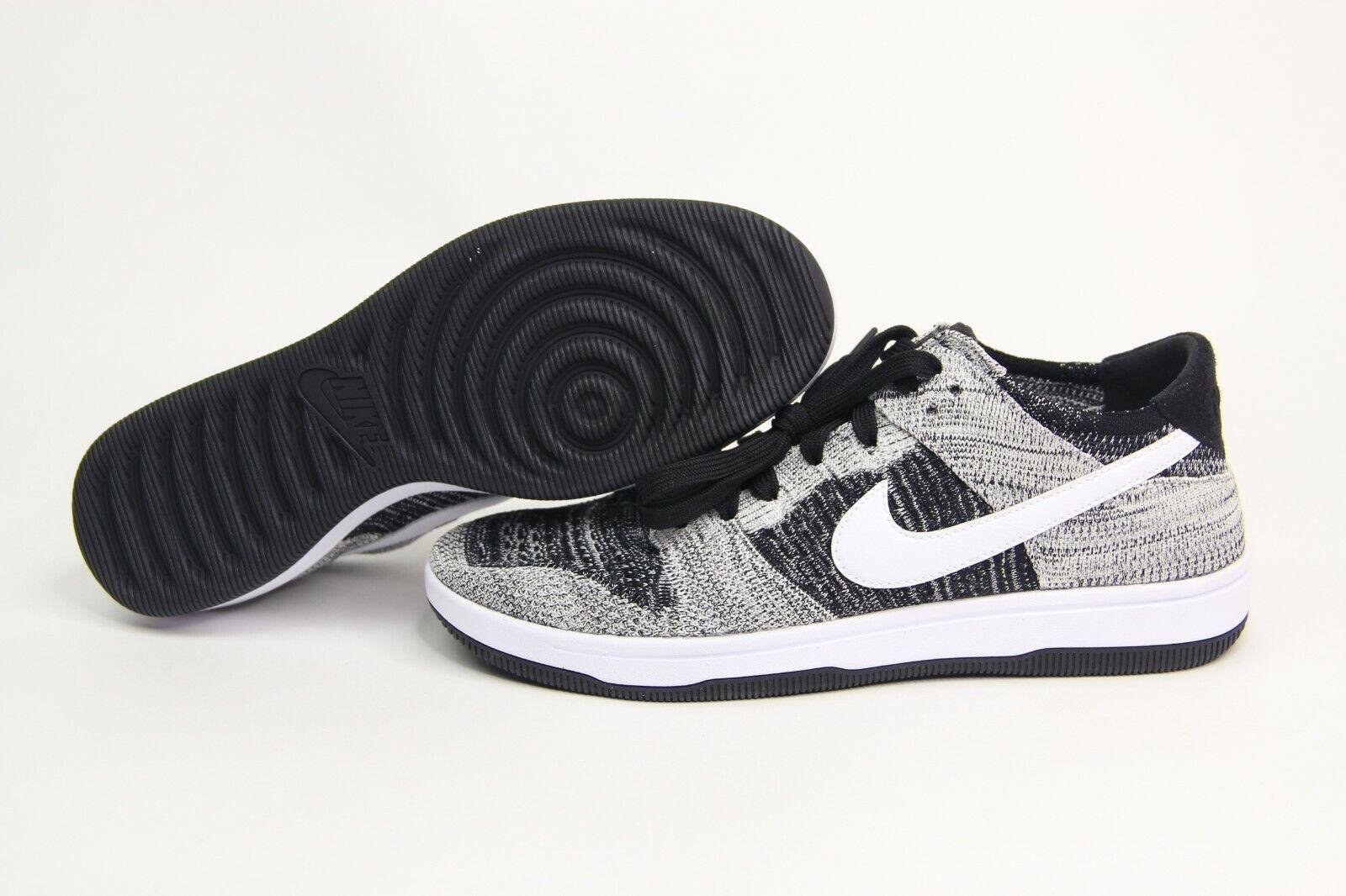 Nike Dunk Low Flyknit Oreo Black White Basketball shoes 917746-003 Men's SZ 9