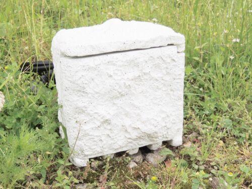 **Gartensteckdos Steckdose 1,5 Meter Kabel 4-fach Steinoptik Außensteckdose**
