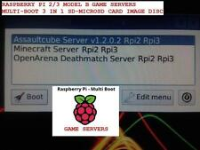 Raspberry PI 2 / 3 Game Servers Multi-Boot OpenArena / AssaultCube / Minecraft