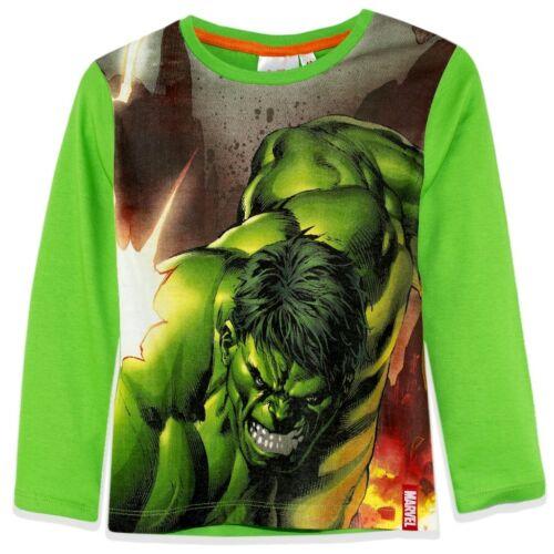 Avengers Langarmshirt langarm 104-140 Junge Shirt Kinder Hulk America Ironman