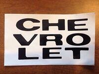 1969 1970 Chevy Truck Grille Letter Decals Chevrolet C10 C20 C30 K5 Blazer
