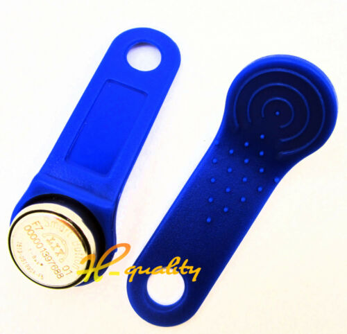 50pcs DS1990A-F5 TM Card iButton Tag with wall-mounted holder Blue