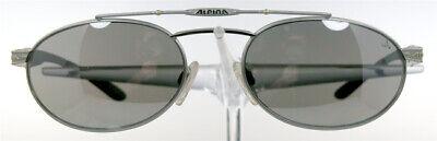 Alpina Occhiali 2558501 Occhiali Da Sole Grigio Matt Ovale Doppio Steg Uomo Sunwear Nuovo- Volume Grande