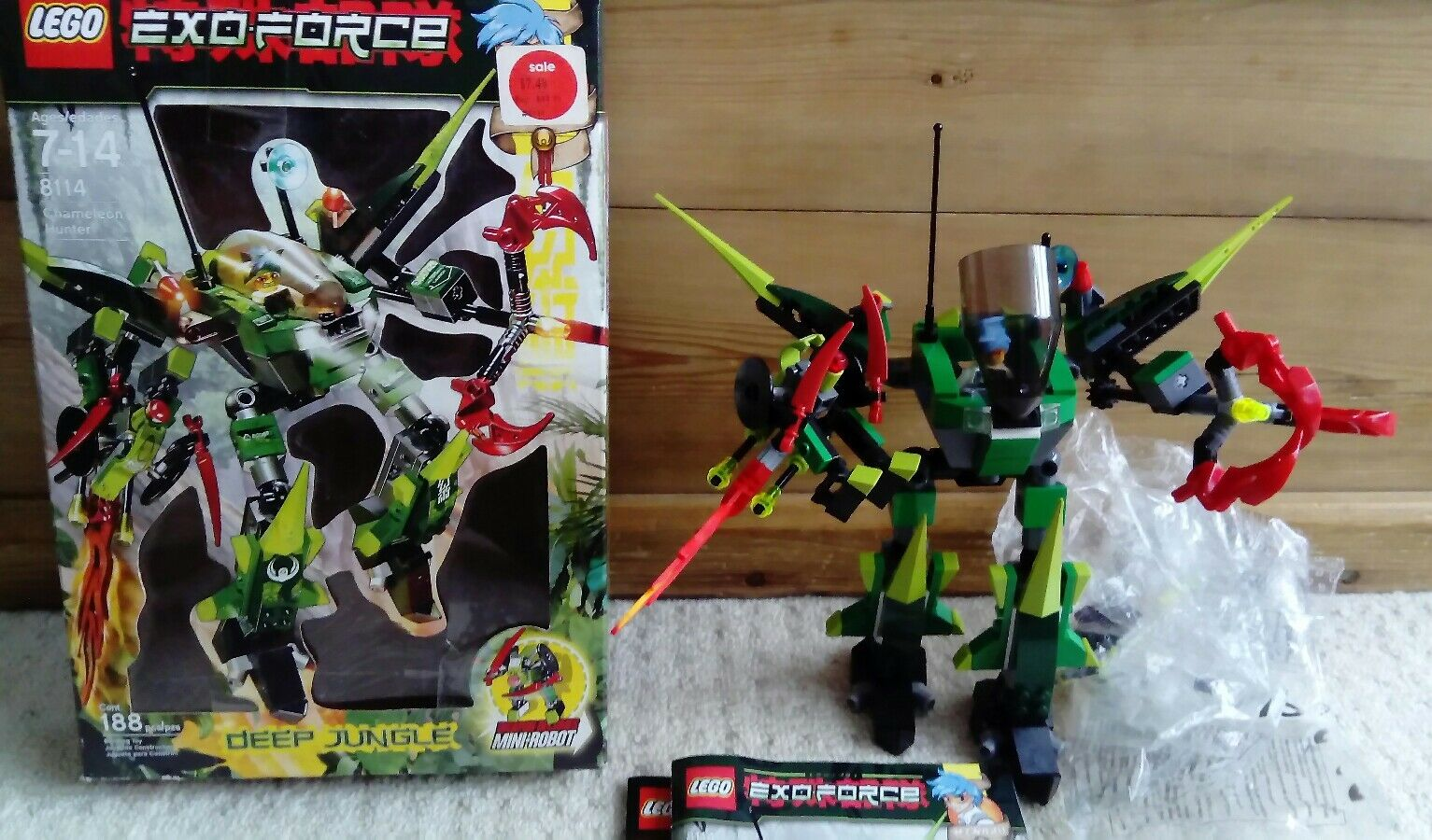 Lego Exo-Force 8114 Chameleon Hunter - Deep Jungle Missing 1 small piece