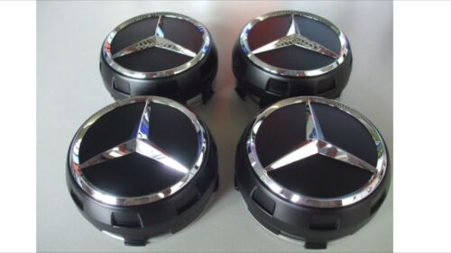 AMG Noir Set Wheel Centre Caps 75 mm Edition ONE MERCEDES BENZ la plupart des modèles a c e