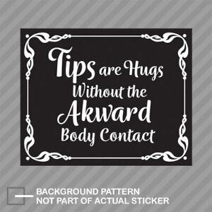 I Accept Tips Bar Tip Jar Bartender Tipping Service Tours Vinyl Sticker Decal