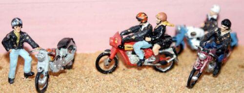 Motorcycles riders Rockers F165 UNPAINTED OO Scale Langley Model Kit 1//76 Metal