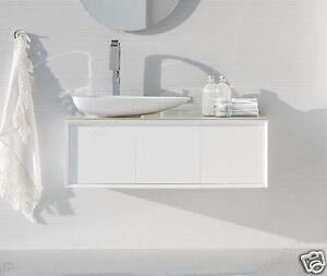 Mobile bagno moderno sospeso 3 ante bianco lucido con top crist ar45 m81 ebay - Mobile bagno bianco lucido ...