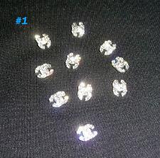 Nail Art 3D Metal Alloy Bling Rhinestone Crystal Glitter Logo Decoration 10pc #1