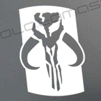 BOBA FETT SHOULDER decal sticker Star Wars Mandalorian Mythosaur Skull