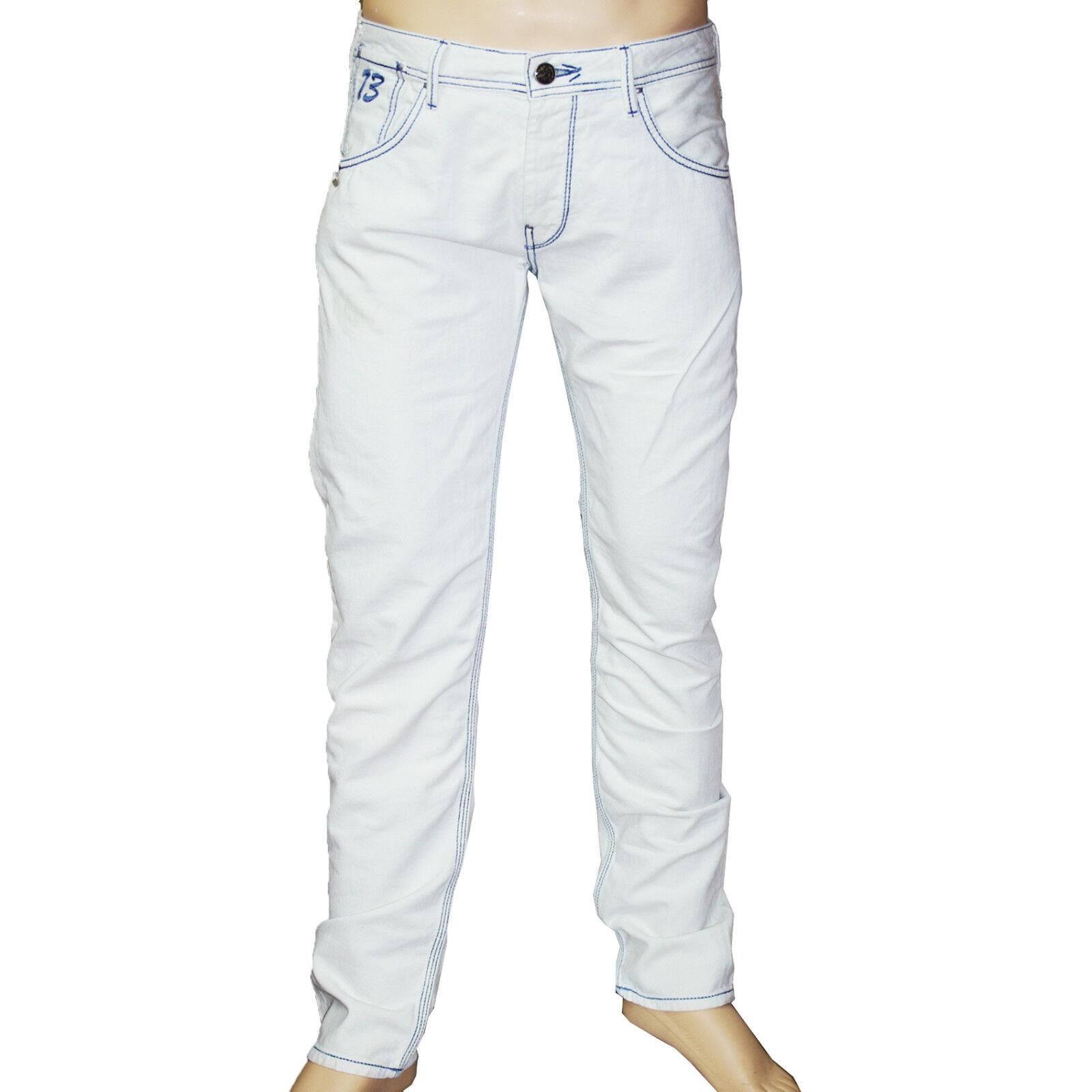 PEPE PEPE PEPE JEANS Jeans homme DYNAMITE INDIGO bianca cassé Dimensione 31 US b2b9e9