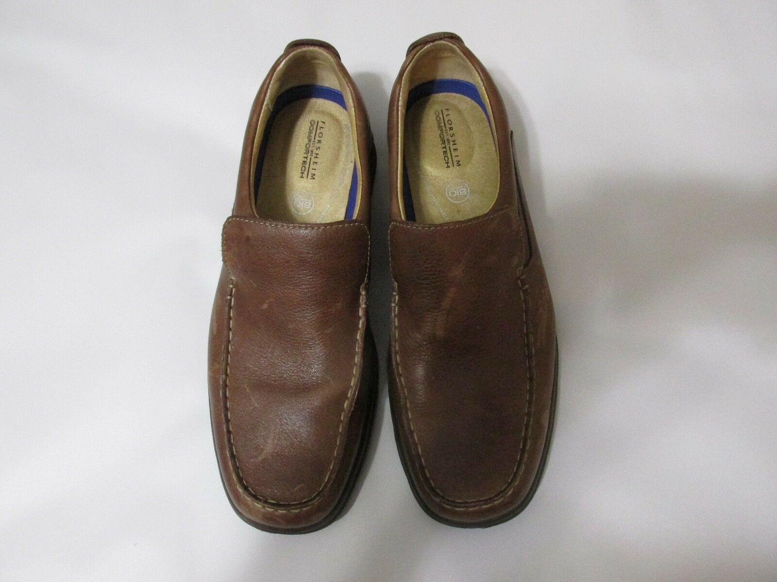 Florsheim Comfortech  Bio Comfort slip on brown leather loafers Men's  Size 9.5D