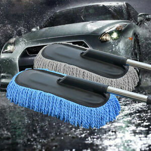 Portable-Microfiber-Telescoping-Car-Wash-Brush-Cleaning-Tool-Wax-Duster-Mop