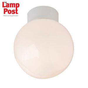 Robus r100sb bathroom ceiling light fitting globe 100w ip44 image is loading robus r100sb bathroom ceiling light fitting globe 100w aloadofball Choice Image