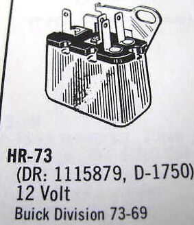 Guaranteed Parts HR73 Horn Relay Buick 1969-73