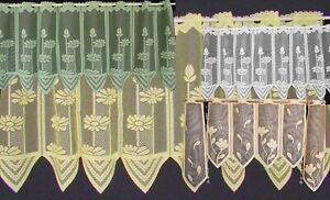"""""""pointe Coins """"disques Rideaux En Jaune, Blanc Ou Vert 50 X 160 Cm-en In Gelb, Weiß Oder Grün 50 X 160 Cm Fr-fr Afficher Le Titre D'origine"""
