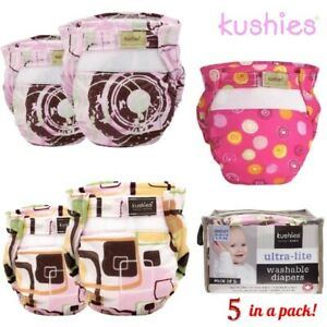 Ultra Kushies de ales 5 lite ales y Baby Pa Girl reusables Paquete Pa lavables nXxwwU