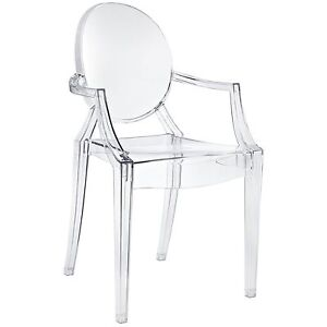 Image Is Loading Ghost Armchair Starck Clear Lucite Modern Acrylic Chair