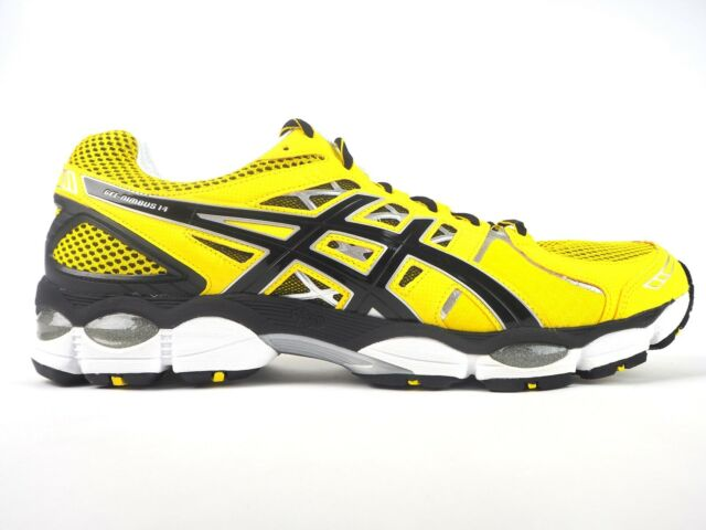official photos e10d1 1eb07 Mens Asics Gel Nimbus 14 T241N 0390 Lace Up Yellow Black Running Mesh  Trainers