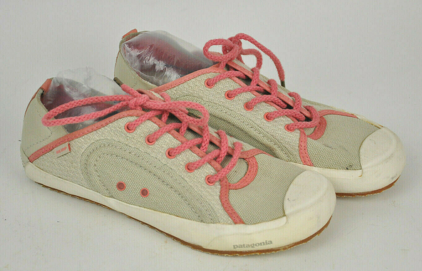PATAGONIA Women's HEMP Salmon CREAM Tennise SNEAKER shoes PATROL Oxford LACE 10