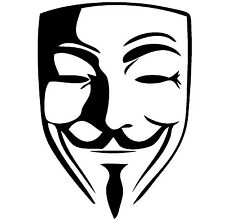 """Anonymous Vinyl Decal """"Sticker"""" For Car or Truck Windows, Laptops, etc"""