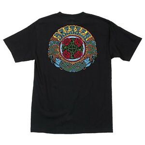Santa Cruz Eric Dressen ROSES Skateboard T Shirt BLACK MEDIUM