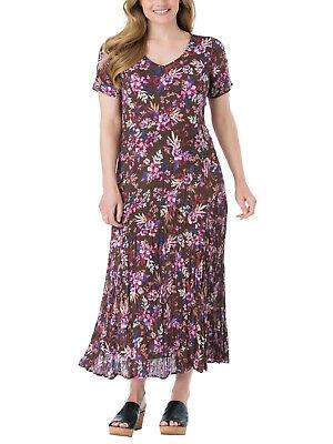 46 48 50 52  #79. Crinkle Kleid Sommerkleid Maxikleid rot schwarz gemustert Gr