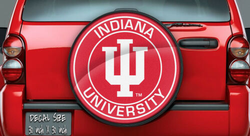 Wheel Cover Indiana Hoosiers NCAA Logo Vinyl For Spare Tire Cover Decal