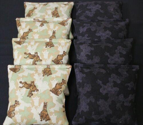 SCOOBY DOO DOG ARMY CAMO  8 ACA Regulation Corn Hole Game Bags