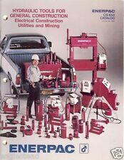 Equipment Catalog Enerpac Hydraulic Tool Construction Mining 1980 E1988