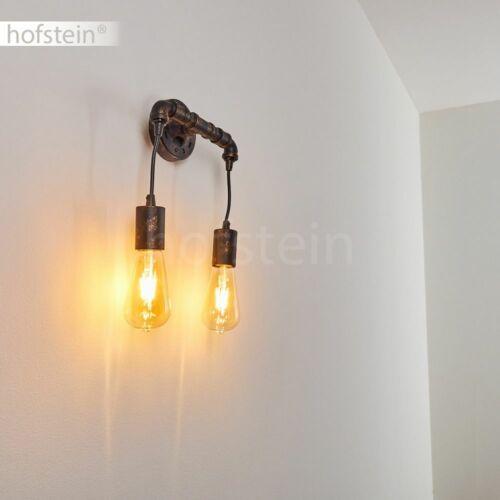 Retro Wand Lampen schwarz//Gold Flur Dielen Leuchten Wohn Schlaf Raum Beleuchtung