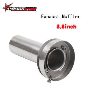 4inch Exhaust Muffler Tip Universal Adjustable Round Exhaust Muffler Tip Removable Sound Silencer