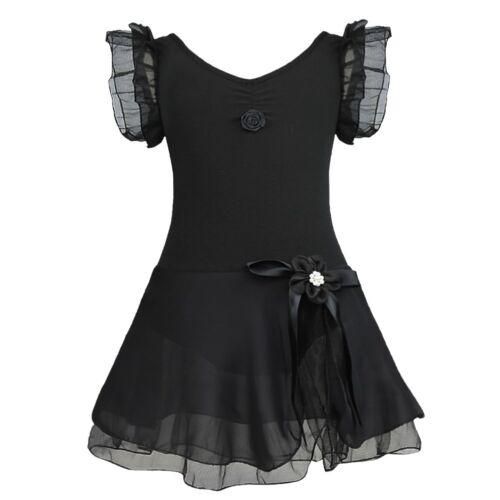 Girls Gymnastics Ballet Dress Toddler Kid Leotard Tutu Skirt Dance Wear Costume