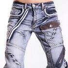 Jeansian Mens Fashion Jeans Pants Denim Cowboy Trouser W30 32 34 36 38 L32 J007