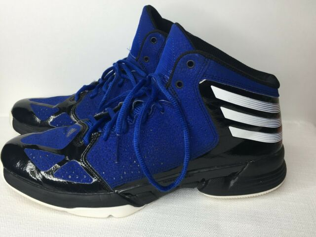 Adidas Q33347 Mens size 8 Basketball Sneakers Shoes Royal Blue Black White