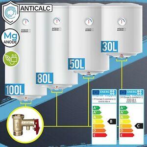 Serbatoio Acqua Calda 30/50/80/100L Boiler 1,5 Kw Parete Anticalc